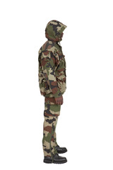 camouflage de profil
