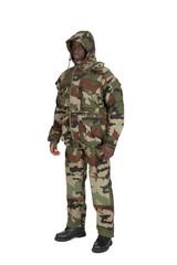 uniforme militaire sur fond blanc détouré