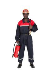 pompier fond blanc