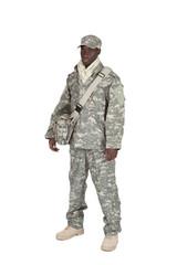 soldat américain sur fond blanc