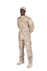 soldat bras dans le dos et sur côté