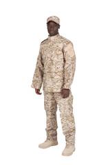 soldat détouré de côté sur fond blanc
