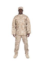 soldat sur fond blanc détouré
