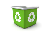 Recycling trash can 3d render