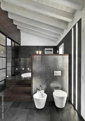Bagno moderno in mansarda immagini e fotografie royalty free su file 36739151 - Bagno in mansarda ...