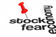 Stock and fear concept