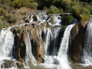 Muridiye Waterfall near Van in Turkey
