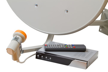 Set of satellite TV equipment
