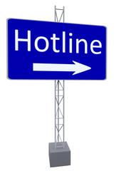 "Schild ""Hotline"""