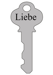 Liebe Schlüssel