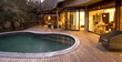 Swimming pool on a deck at a safari lodge in South Africa - 36744589
