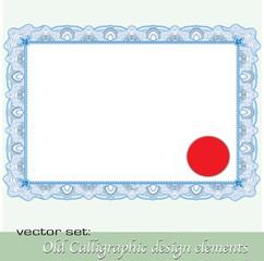 Calligraphic design elements 12
