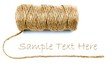 Natural rope and sample text
