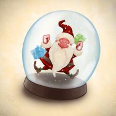 Santa Claus in snowball