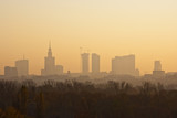 Fototapety Warsaw skyline in autumn