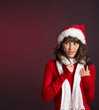 skeptisch blickende Weihnachtsfrau