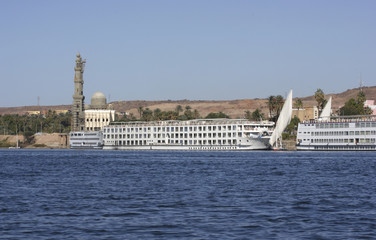 River Nile near Aswan in Egypt
