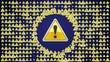 Warning Button Symbol Loop - HD1080