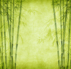 chinese bamboo trees with texture of handmade paper © xiaoliangge