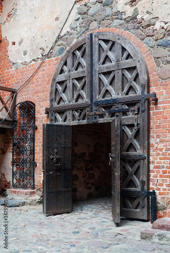 Inner gate of Trakai castle in Lithuania