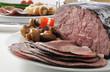 Gourmet roast beef dinner