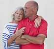 timeless complicity for senior couple
