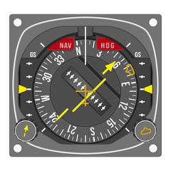Aircraft navigation instrument - HSI