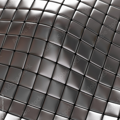 Abstract silver checkered background