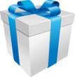 Cadeau ruban bleu