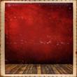 Grunge interior red