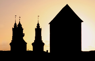 Silhouette Church and Tower