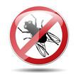Señal prohibido mosca