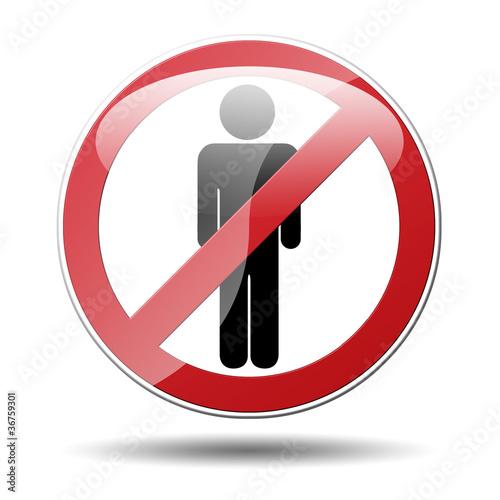 Señal prohibido hombre