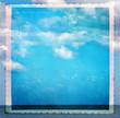 Cielo e mare - texture retro