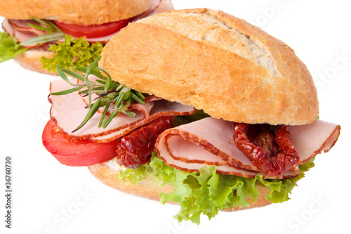Sandwich with roasted chicken