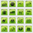 button Green Shopping
