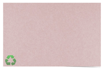 Blank recycled paper craft stick on white background