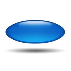 Boton brillante azul ovalado