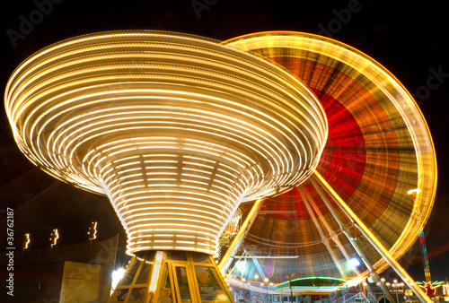 Ferris wheel and carousel, Karlsruhe, Germany