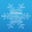 """CHRISTMAS"" Tag Cloud (snowflakes scene icon happy merry card)"