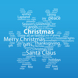 """""""CHRISTMAS"""" Tag Cloud (snowflakes scene icon happy merry card)"""
