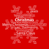 """""""CHRISTMAS"""" Tag Cloud (tree icon happy merry card snowflakes)"""