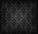 Vector illustartion of black seamless wallpaper pattern