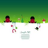 Card 2 Sitting Ladybugs & Symbols New Year´s Eve poster