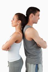 Portrait of a competitive couple