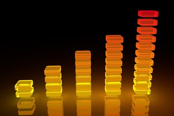 Orange Glowing Bar Diagram