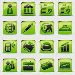 button Green Business