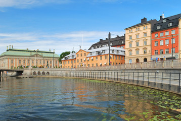 Stockholm.  Old Town embankment