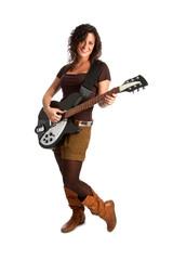 ragazza sorridente con chitarra