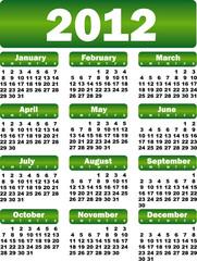 calendar for 2012 green
